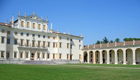 Villa Manin facade and porch Royalty Free Stock Image