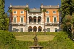 Villa Maria, résidence construite dans le néo- style de la Renaissance dans Griante, lac Italie Como photographie stock libre de droits