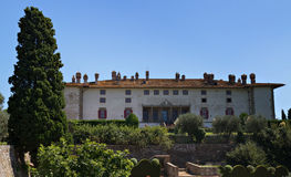 Villa Medici in Artimino stock foto