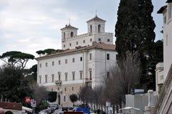 Villa Medici, Borghese trädgårdar italy rome arkivbilder