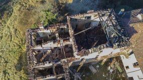 Villa Medolago Rasini, Limbiate le 18 janvier 2017, vue aérienne Image stock