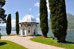 Villa Melzi At The Famous Italian Lake Como Stock Images
