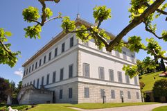 Villa Melzi At The Italian Lake Como Stock Images