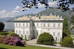 Villa Melzi, Meer Como Stock Afbeelding