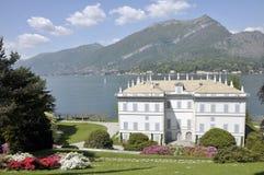 Villa Melzi, Meer Como Stock Foto