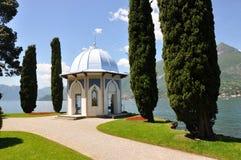 Villa Melzi nel lago italiano famoso Como immagini stock