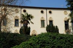 Villa met park in ArquàPetrarca Veneto Italië Stock Afbeeldingen