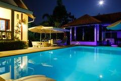 Villa met pool Royalty-vrije Stock Foto