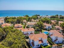 Villa in Miami Platja stock foto's