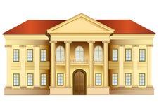 Villa mit Spaltevektor Stockfotos