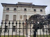 Villa in Montebelluna, Italia, Veneto nell'inverno fotografia stock