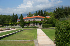 Villa in Montenegro. Beautiful villa in the trees and mountains Stock Images