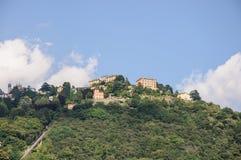 Villa on a mountain on Como Lake, Italy Stock Photo