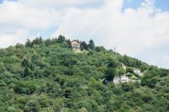 Villa on a mountain on Como Lake, Italy Stock Photos