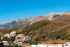 Villa in the mountains. Montenegro, Bay of Kotor. Shooting from Stock Photos