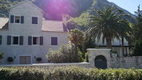 Villa in the mountains. Montenegro, Bay of Kotor. Shooting from. The air, aerial photography drone stock video
