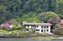 Villa naast Meer Como Royalty-vrije Stock Foto