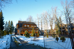 Villa named Jedynaczka in Zakopane Royalty Free Stock Photography