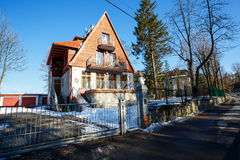 Villa named Strzelista in Zakopane Royalty Free Stock Photography