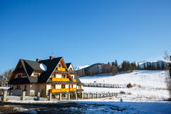Villa named Wisienka in Zakopane Stock Photo