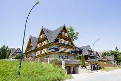 Villa namngiven U Sabalow i Zakopane royaltyfri fotografi