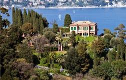 Villa near Portofino Stock Image
