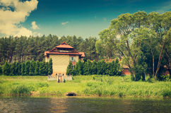 Villa near the river Stock Photography