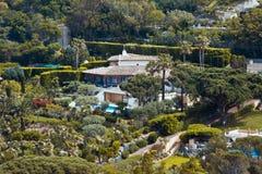Villa near Saint Tropez. The villas of famous people in the surroundings of Saint Tropez stock photos