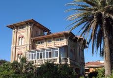 Villa near the sea. An old villa near the sea in Tuscany, Italy Royalty Free Stock Photography