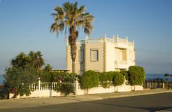 Villa near sea side. Paphos. Cyprus Stock Photography
