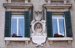 Villa in the old town of Verona, Royalty Free Stock Photography