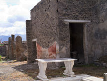 Villa in the once buried city of Pompeii Stock Photography