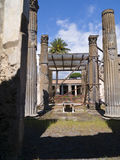Villa in the once buried city of Pompeii Royalty Free Stock Image