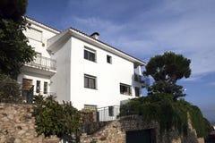 Villa op de Middellandse Zee Royalty-vrije Stock Fotografie