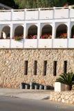 Villa op het strand Stock Afbeelding