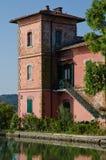 Villa at orbetello lagoon Stock Image