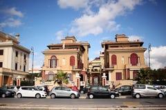 Villa in Ostia dichtbij de Thyrreense Zee Stock Afbeelding