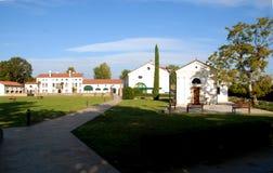 Villa Ottoboni con la chiesa al sole nel cielo ed a Padova in Veneto (Italia) Fotografie Stock Libere da Diritti