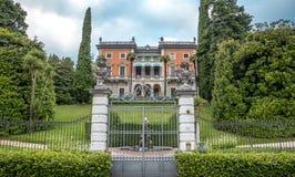 Villa på Como sjön Arkivbilder