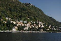 Villa på Como sjön, Italien Fotografering för Bildbyråer