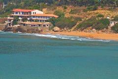 Villa på stranden Fotografering för Bildbyråer