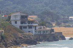 Villa på stranden Royaltyfria Foton