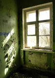 Villa Paldiski (ruin). Lightbeam entering Villa Paldiski (ruin Stock Photography