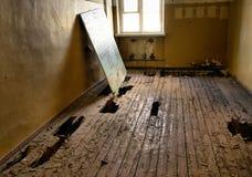 Villa Paldiski (ruin). Room with broken floor in Villa Paldiski (ruin Royalty Free Stock Photo