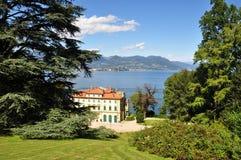 Villa Pallavicino Park - Stresa. Italy, Lake Maggiore. View of the Villa Pallavicino Park in the Piedmont town of Stresa stock photos