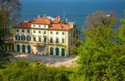 Villa Pallavicino, Stresa Piedmont, Italien 17 April 2015 Arkivfoto