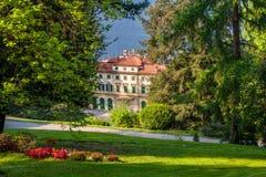 Villa Pallavicino, Stresa Piedmont, italy 17 April 2015 Royalty Free Stock Photo