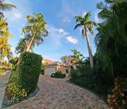 Villa in Paradise. Villa in Florida USA with a nice garden royalty free stock image