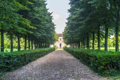Villa and park near Mantua Stock Image