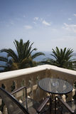 Villa patio over sea Royalty Free Stock Photography